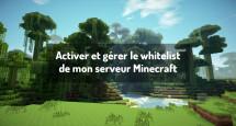 Activer et gérer le whitelist de mon serveur Minecraft