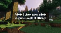 Admin GUI:  un panel admin in-game simple et efficace