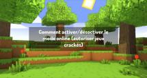 Comment activer/désactiver le mode online (autoriser jeux crackés)