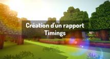 Création d'un rapport Timings