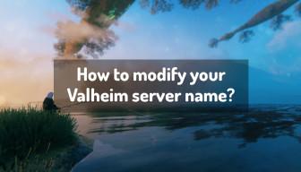 How to modify your Valheim server name?