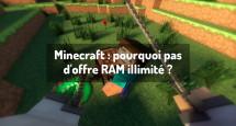 Minecraft : pourquoi pas d'offre RAM illimité ?