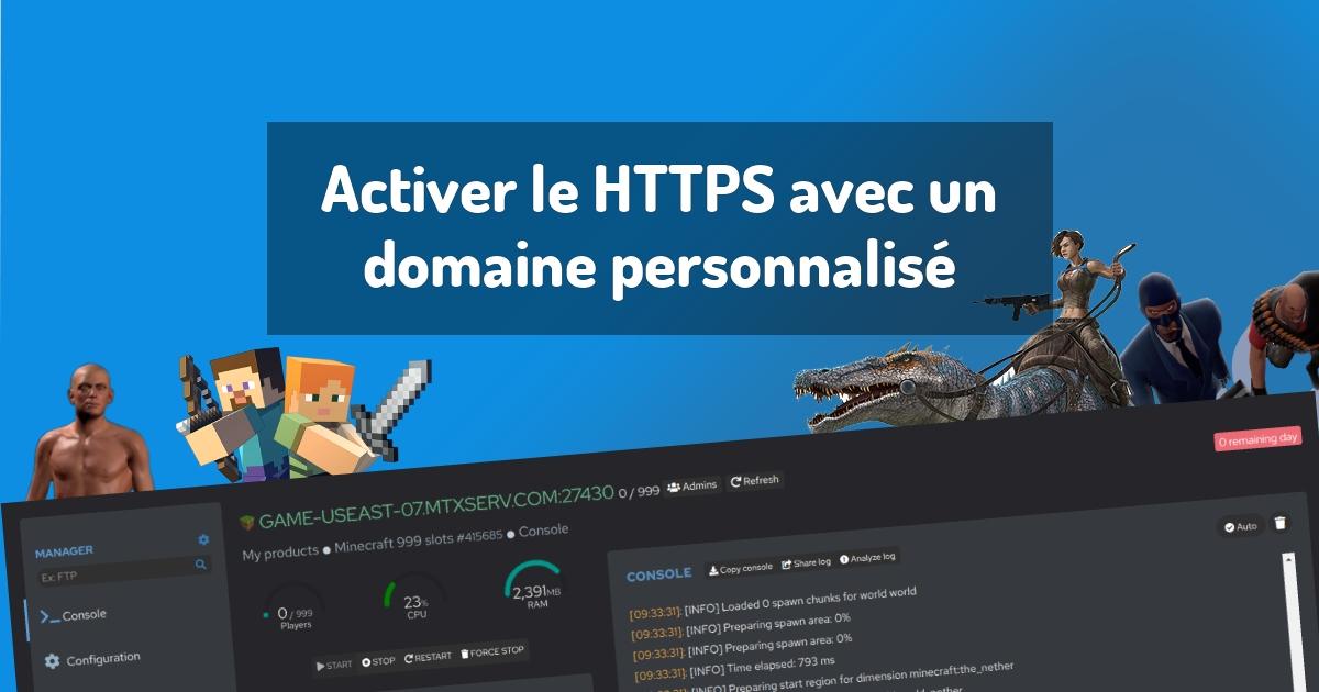 Activer le HTTPS avec un domaine personnalisé