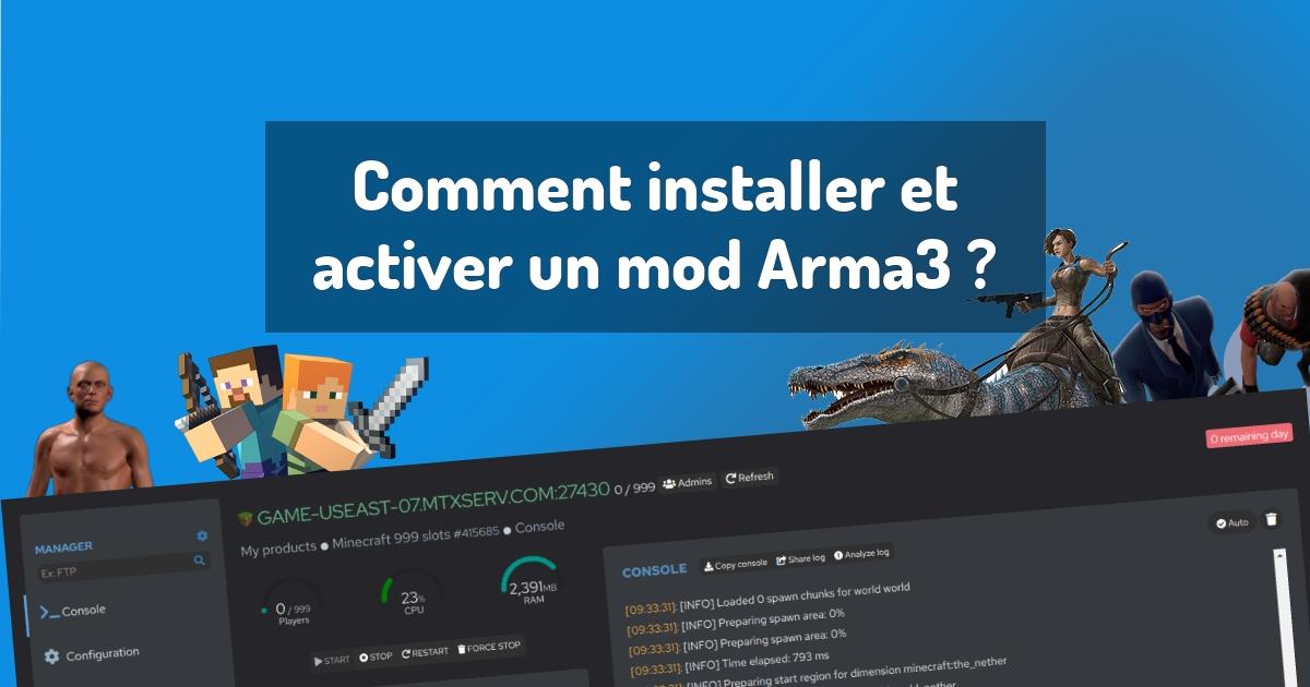 Comment installer et activer un mod Arma3 ?