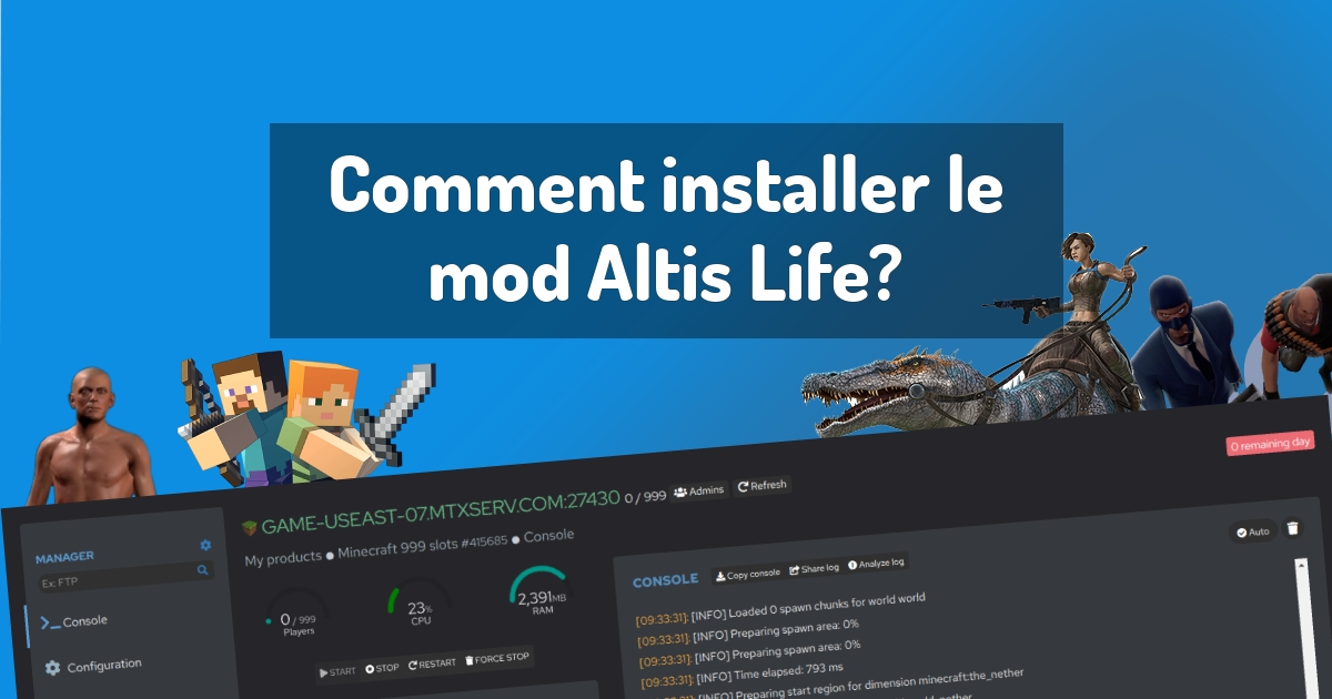 Comment installer le mod Altis Life?