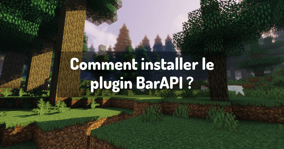 Comment installer le plugin BarAPI ?