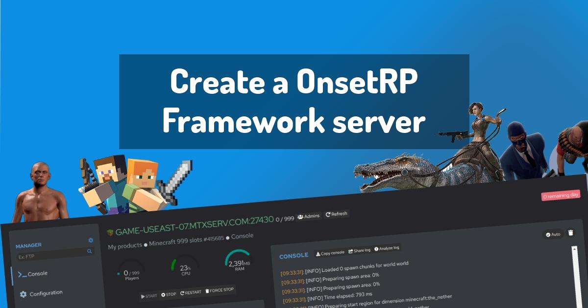 Create a OnsetRP Framework server