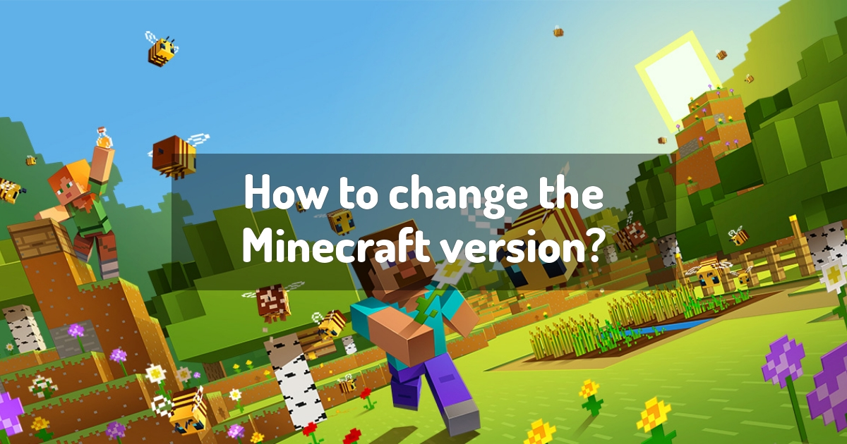 How to change the Minecraft version?