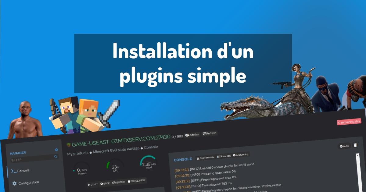 Installation d'un plugins simple