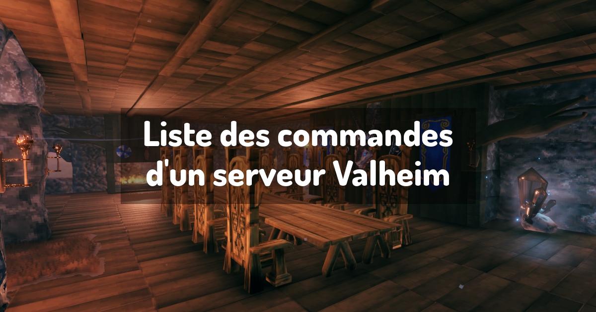 Liste des commandes d'un serveur Valheim