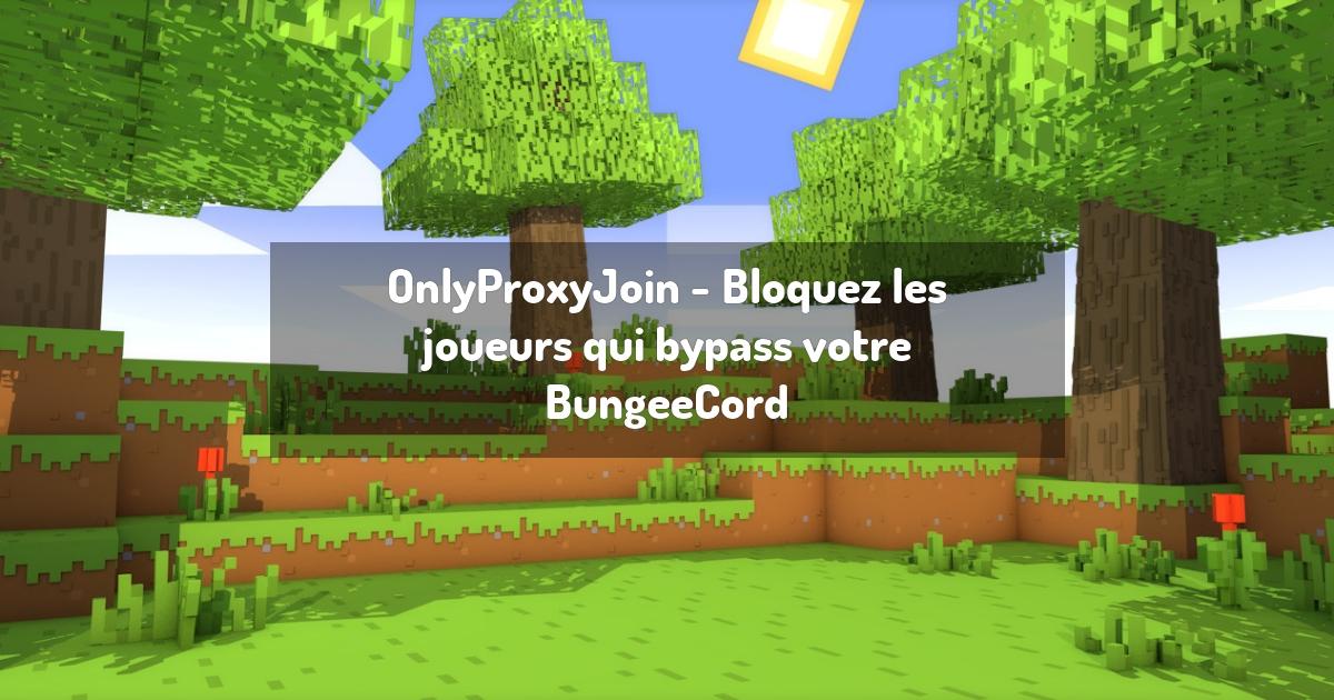 OnlyProxyJoin - Bloquez les joueurs qui bypass votre BungeeCord