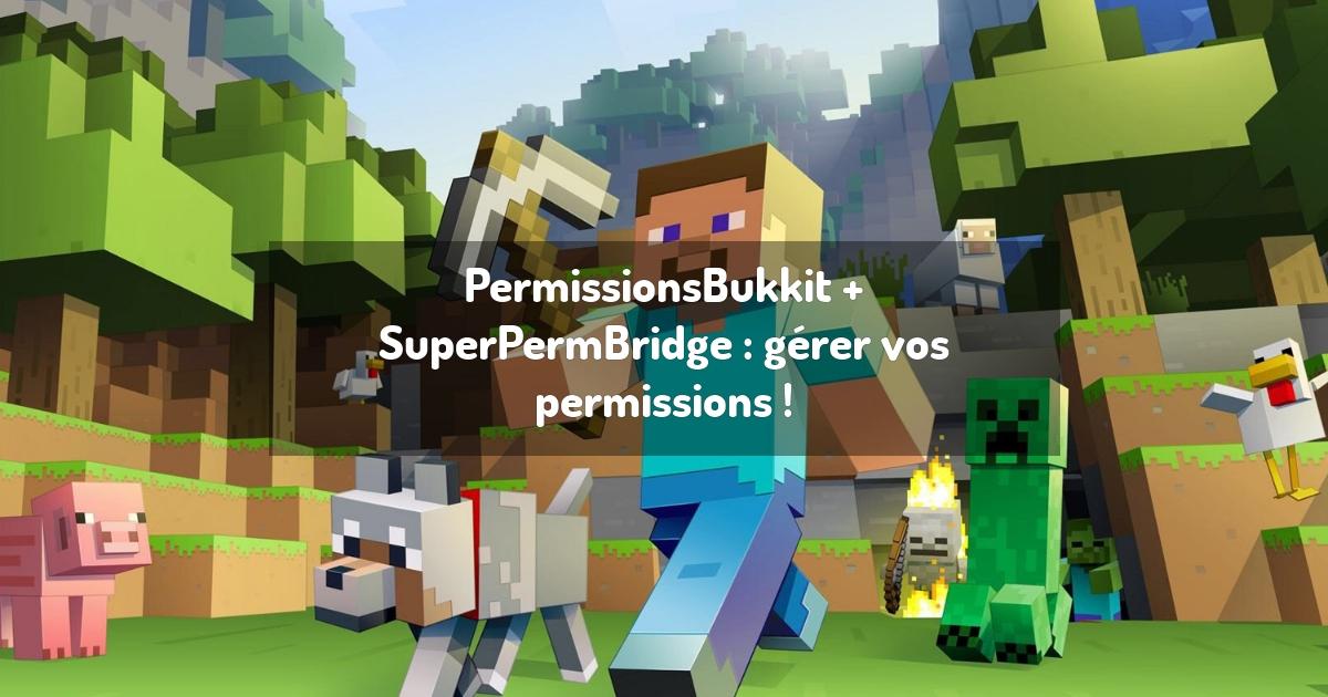 PermissionsBukkit + SuperPermBridge : gérer vos permissions !