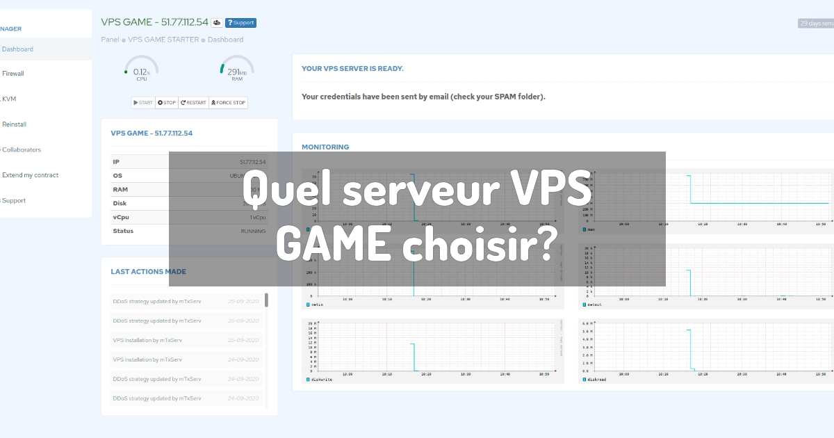 Quel serveur VPS GAME choisir?
